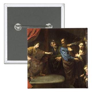 The Judgement of Daniel 15 Cm Square Badge