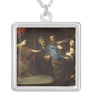 The Judgement of Daniel Silver Plated Necklace