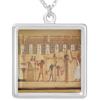 The Judgement of Osiris, detail Silver Plated Necklace