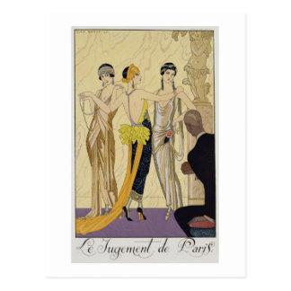 The Judgement of Paris, 1920-30 (pochoir print) Postcards