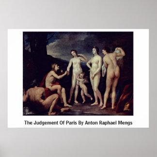 The Judgement Of Paris By Anton Raphael Mengs Posters