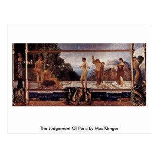 The Judgement Of Paris, Le By Max Klinger Postcard
