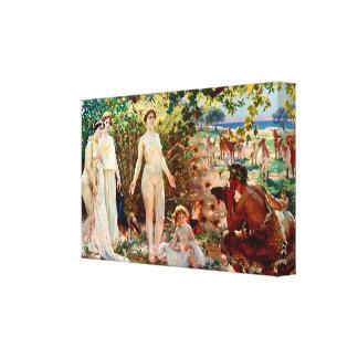 The Judgement of Paris Stretched Canvas Prints