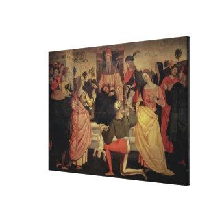 The Judgement of Solomon Canvas Print
