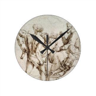 The Judgement of Solomon (pen & ink) Clock