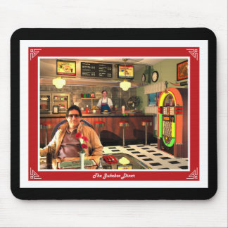 The Jukebox Diner Black Mouse Pad
