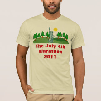 The July 4th Marathon American Apparel T-Shirt