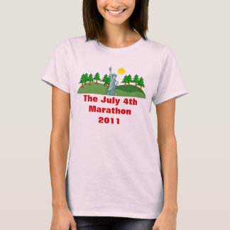 The July 4th Marathon Ladies Baby Doll (Fitted) T-Shirt