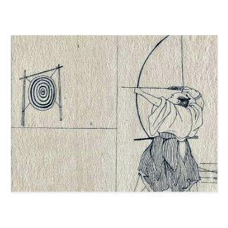 The Kamakura period warrior by Utagawa,Kuniyoshi Postcard