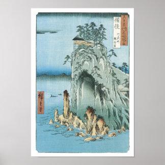 The Kannon Temple, HIroshige, 1856-58 Poster