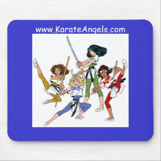 The Karate Angels Mouse Pad