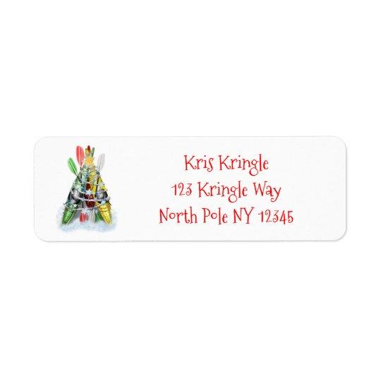 The Kayak Christmas Tree personalised Return Address Label
