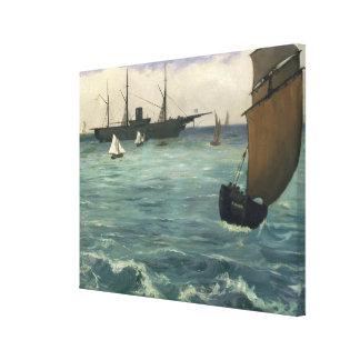 The Kearsarge at Boulogne Canvas Print