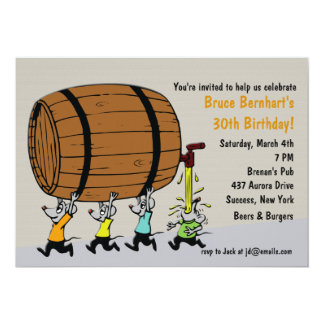 The Keg Party Invitation