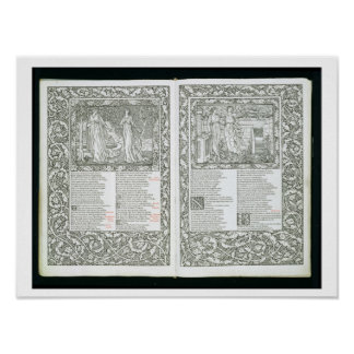 The 'Kelmscott Chaucer', published 1896 by the Kel Poster