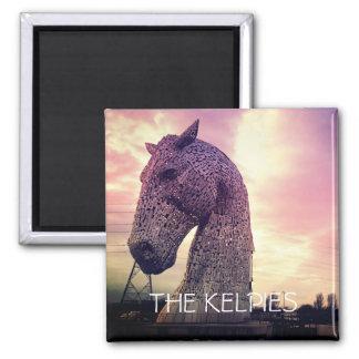 The Kelpies magnet, high horse-head sculptures Magnet
