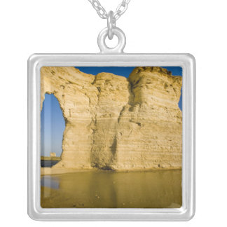 The Keyhole of the Monument Rocks aka Chalk Square Pendant Necklace
