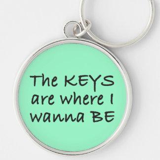 The Keys are Where I Wanna Be Keychain