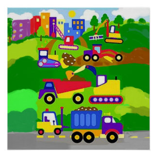 The kid construction zone poster