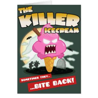 The Killer Icecream Movie Poster Birthday Card