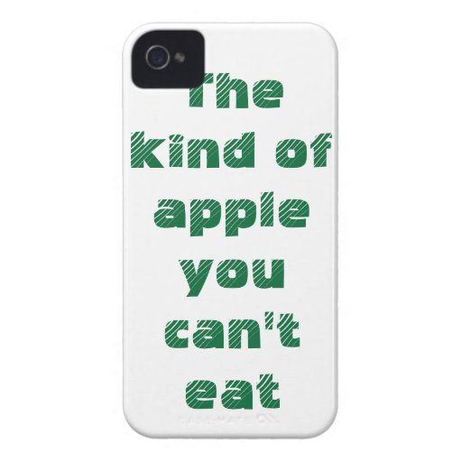 The kind of apple you can't eat iPhone 4 Case-Mate cases