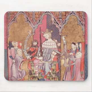 The King Administering Justice Mouse Pad