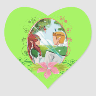 The King and Queen Heart Stickers, Glossy, Small Heart Sticker