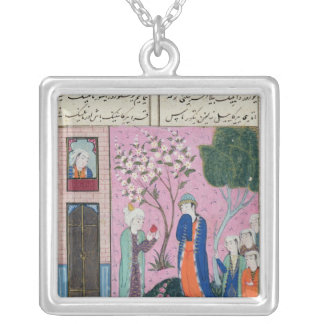 The king bids farewell silver plated necklace