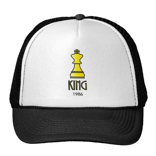 The King (Chess) Cartoon Graphic Hat