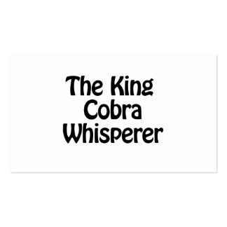 the king cobra whisperer pack of standard business cards