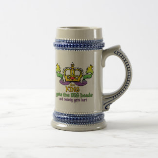 The King gets the BIG beads Beer Stein