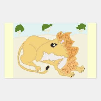 The King Of Beasts Rectangular Sticker