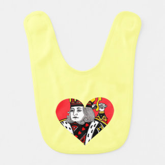 The King of Hearts Baby Bibs