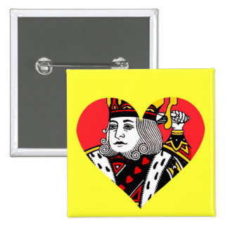 The King of Hearts Pinback Button
