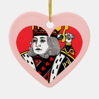 The King of Hearts Ceramic Heart Decoration