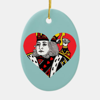 The King of Hearts Ceramic Oval Decoration