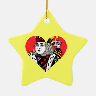 The King of Hearts Ceramic Star Decoration