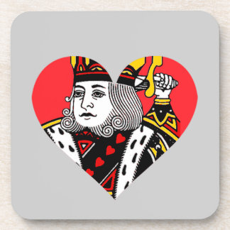 The King of Hearts Drink Coasters