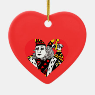 The King of Hearts Christmas Tree Ornaments