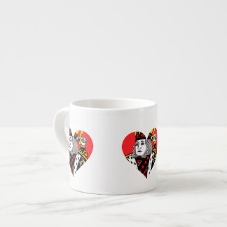 The King of Hearts Espresso Cups