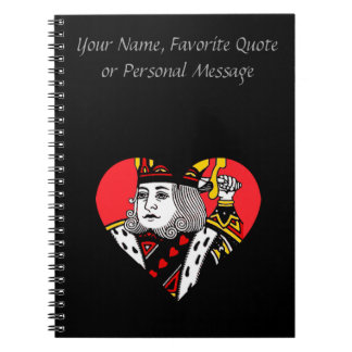 The King of Hearts Spiral Notebooks