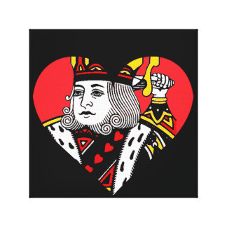 The King of Hearts Stretched Canvas Prints