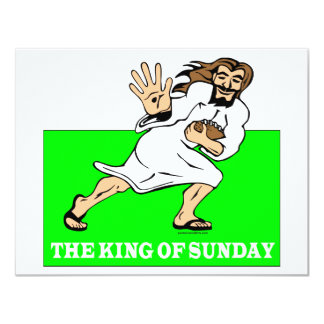 THE KING OF SUNDAY 11 CM X 14 CM INVITATION CARD