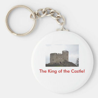 The King of the Castle! Basic Round Button Key Ring