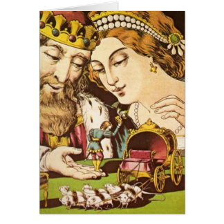 The King & Queen with Tom Thumb - Card