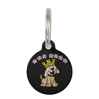 the king Round Small Pet Tag
