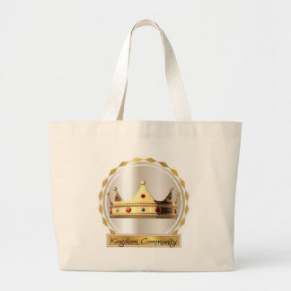 The Kingdom Community Crown 2 Large Tote Bag