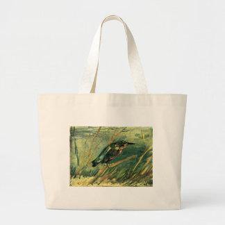The Kingfisher by Vincent van Gogh Jumbo Tote Bag