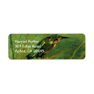 The Kingfisher Van Gogh Fine Art Return Address Label