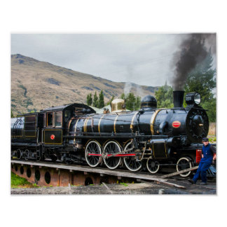 The Kingston Flyer, steam engine locomotive, South Poster